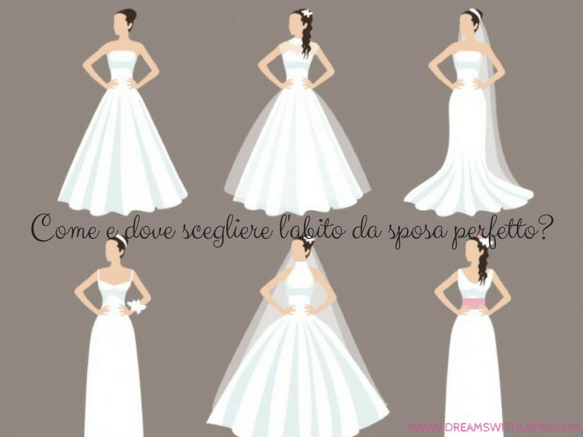 Come e dove scegliere l'abito da sposa perfetto?